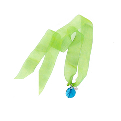 Leaf on Organza Ribbon Necklace