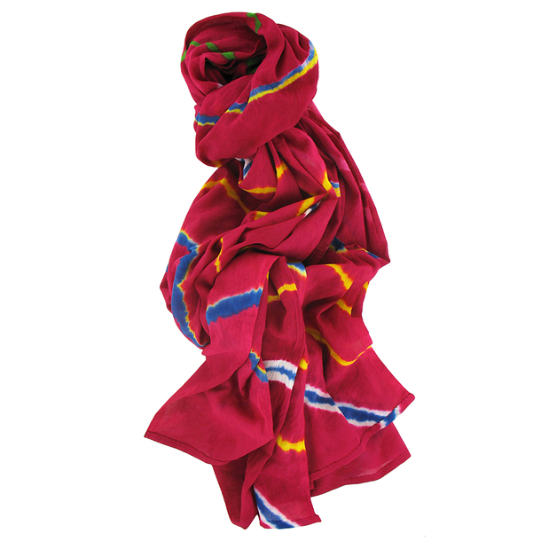 Tie and Dye Stole - Multicolor