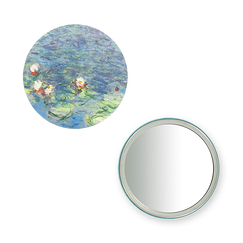 "Purse mirror ""The Water Lilies - Morning"""