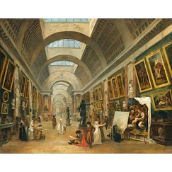 Development project for the Grande Galerie du Louvre in 1796